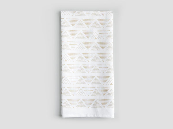 HEWN Lines and Dots Linen Tea Towel in Sand