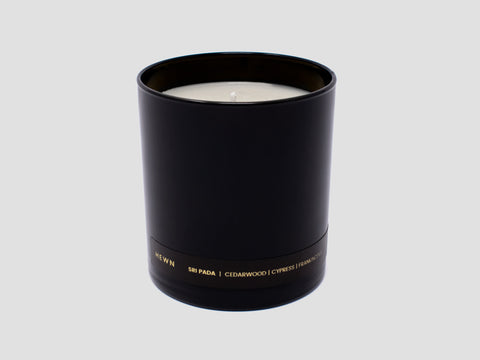 HEWN Sri Pada 9 oz. Black Glass Candle