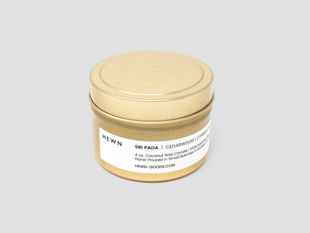 HEWN Sri Pada 4 oz. Gold Tin Travel Candle