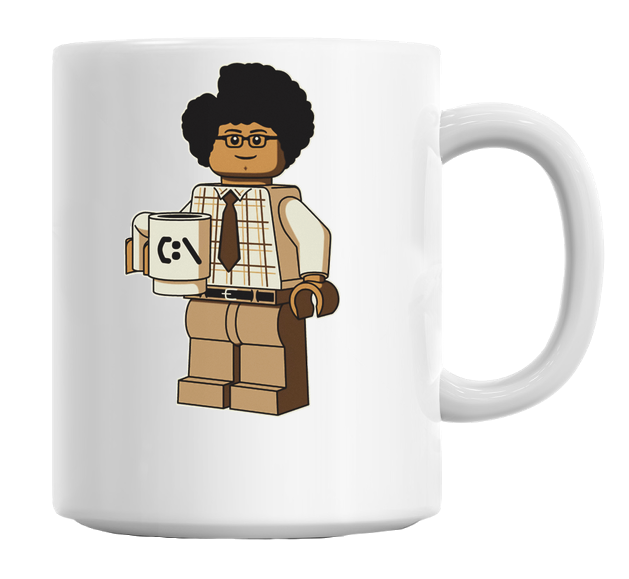 An Office Worker Figure Mug