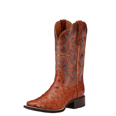 Ladies Ariat 10016708 Brandy Tombstone Full Quill Ostrich