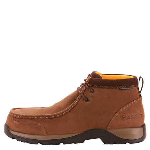 Men's Ariat 10024954 Brown Edge LTE Moc Composite Toe
