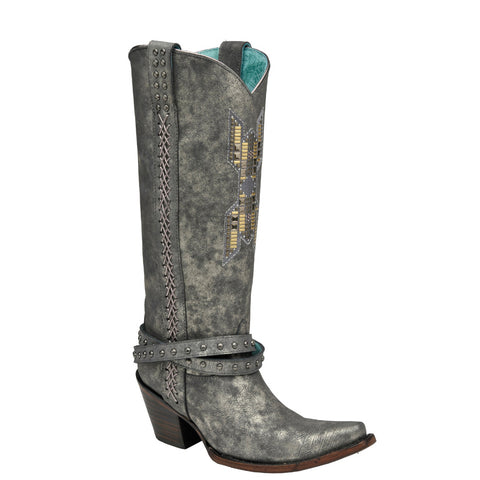 Ladies Corral C2930 Gray with Harness