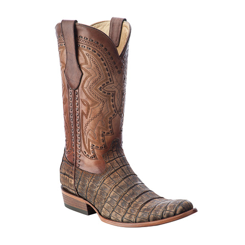 Men's Corral C3002 Antique Saddle Alligator Round Toe
