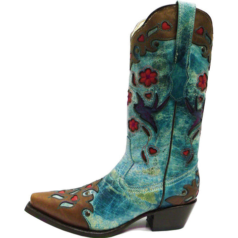 Ladies Vaccari Turquoise Alexa Flower and Birds VC101