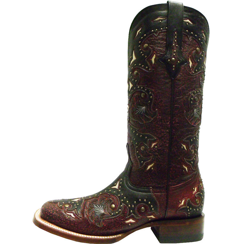 f98c8f8c91950 Ladies Lucchese M5810.TWF Red Studded Scarlette – Texas Western ...
