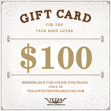 Texas Western Wearhouse Gift Card