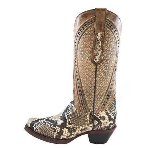 Ladies Vaccari Natural Python Belly JW Toe VC147