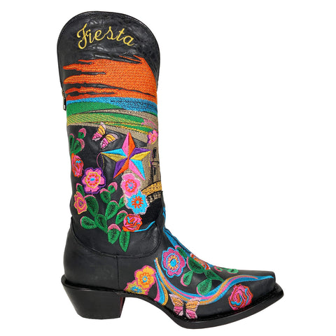 Fiesta Embroidered Isabella Black