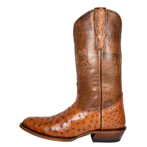 Stetson Cognac Full Quill Ostrich Round Toe