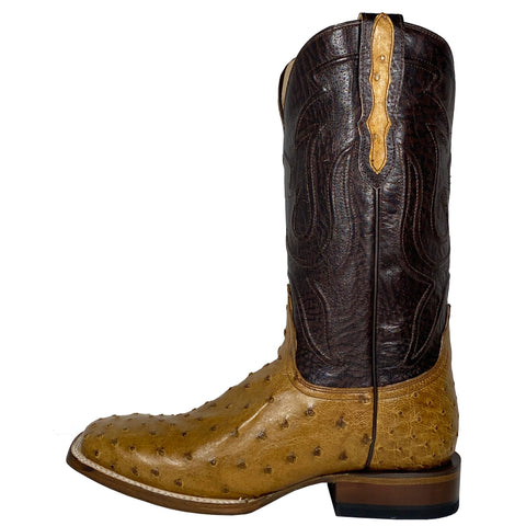 Stetson Brown Full Quill Ostrich Square Toe