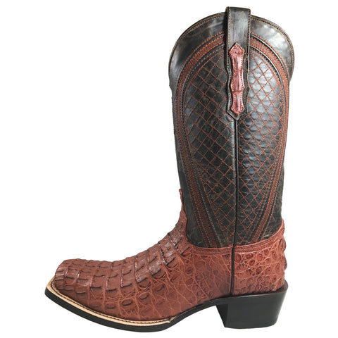 Men's Vaccari Cognac Caiman Body NS Toe VC143