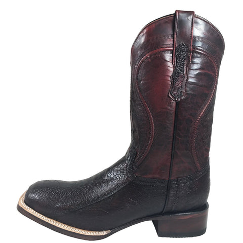 Men's Vaccari Black Cherry Ostrich Leg VMX109-500