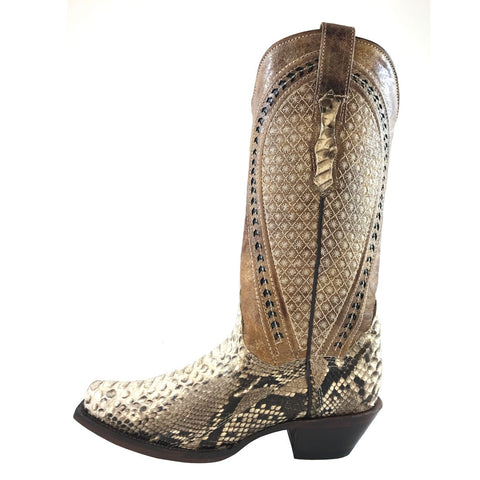 Ladies Vaccari Natural Python Back JW Toe VC145