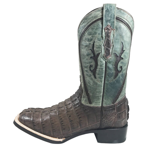 Men's Vaccari Mocha Caiman Tail Square Toe VC133