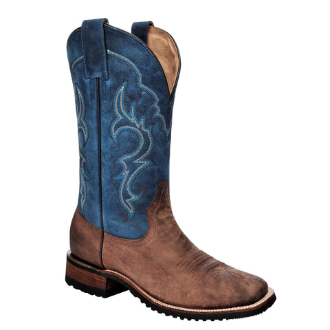 Men's Corral L5234 Blue and Brown Square Toe