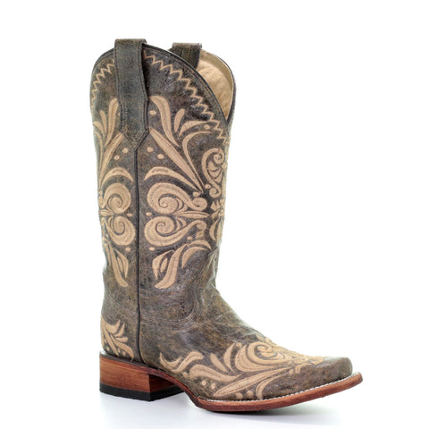 Ladies Corral L5430 Distressed Embroidered Boots