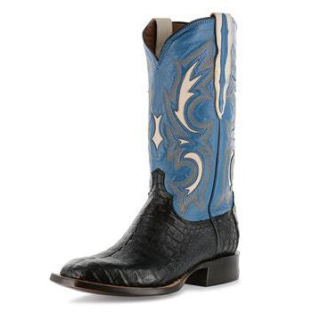 Lucchese M2680 Black and Blue Shiloh Caiman Belly