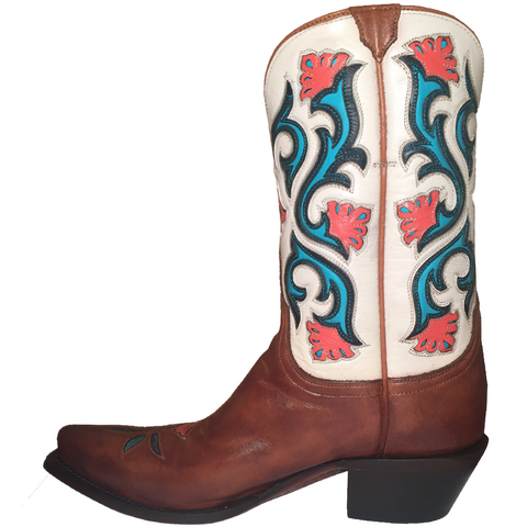 Ladies Lucchese M4920 Tan Calf Belle