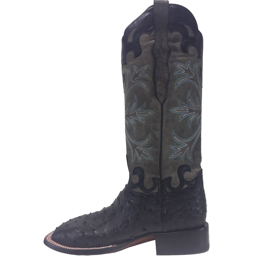 0a71fa8c941 Ladies Lucchese M4938 Black Rowena Full Quill Ostrich