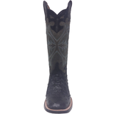 Ladies Lucchese M4938 Black Rowena Full Quill Ostrich