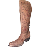 Ladies Lucchese M4952 Brown Floral Print Vera