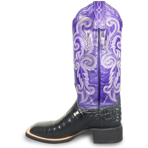 Ladies Lucchese M4943 Black Caiman Annalyn