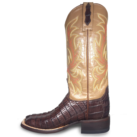 Ladies Lucchese M4946 Caiman Chocolate