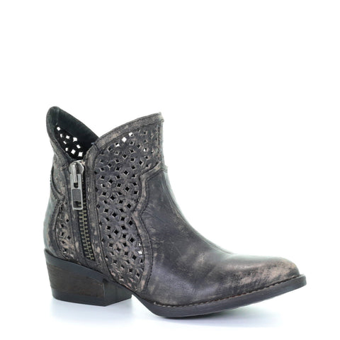 Ladies Circle G by Corral Q0001 Black Cutout Booties