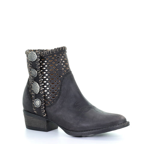 Ladies Circle G by Corral Q0117 Black Cutout Studs Booties