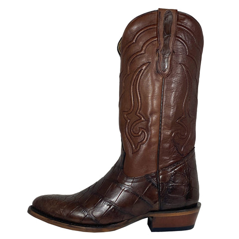 Stetson Chocolate American Alligator Round Toe