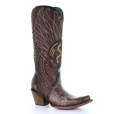 Lucchese N1155 Black Full Quill Ostrich Hueco