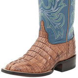 Ladies Lucchese M4945 Whiskey and Blue Lexie Hornback Caiman Tail