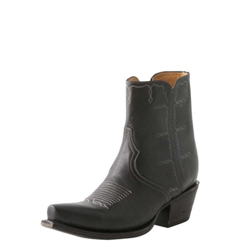 Ladies Lucchese M4848 Black Rhiannon Short Boot