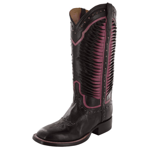 Ladies Lucchese M4871 Chocolate Caterina Square Toe