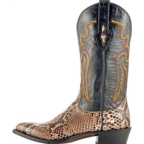 Men's Lucchese M3039 Natural Belly Cut Python