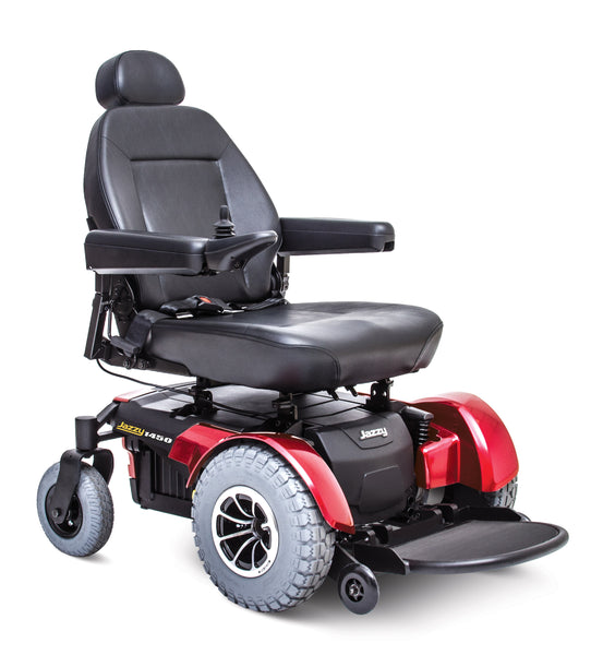 Pride Jazzy 1450 Power Wheelchair - Red - Guaranteed Lowest Price - We will meet or beat any online advertised price - Medpile.com