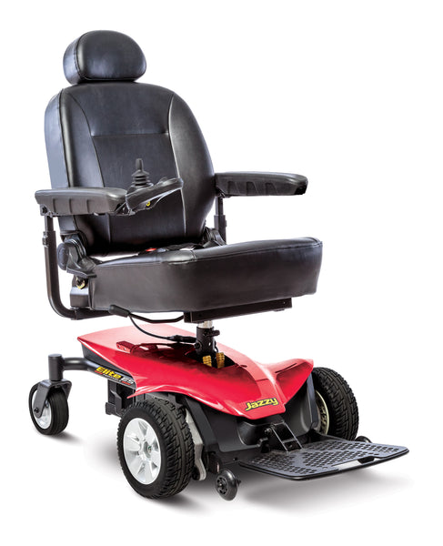 Pride Jazzy Elite ES Portable Power Wheelchair - Red - We will meet or beat any online advertised price - Contact us today at Medpile.com
