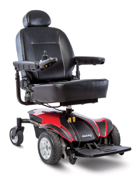 Pride Jazzy Select Elite Power Wheelchair - Red - Lowest Price Guarantee - We will meet or beat any online advertised price - Medpile.com