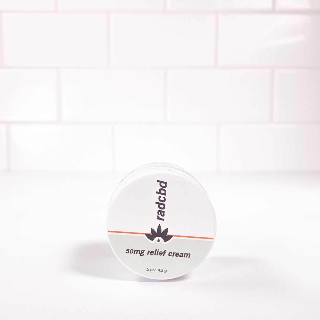 RELIEF CREAM (FULL SPECTRUM HEMP EXTRACT 50MG)