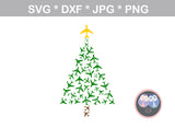 Airplane, Christmas, Tree, art, digital download, digital download, SVG, DXF, cut file, personal, commercial, use with Silhouette Cameo, Cricut and Die Cutting Machines