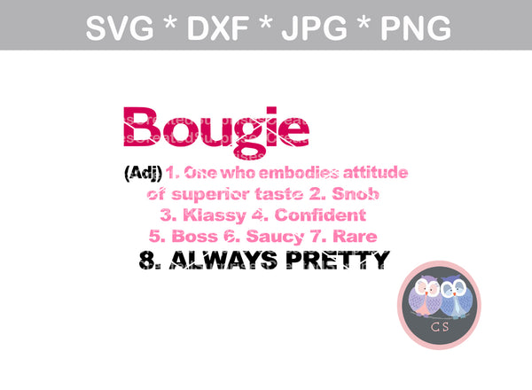 Bougie definition, woman, digital download, SVG, DXF, cut file, personal, commercial, use with Silhouette Cameo, Cricut and Die Cutting Machines