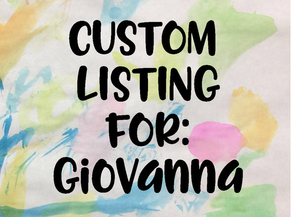 Custom Listing for Giovanna (Cat Hat-Reading Thing)
