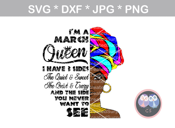Afro woman (All months included) doek, 3 sides, diva, afro, girl, digital download, SVG, DXF, cut file, personal, commercial, use with Silhouette Cameo, Cricut and Die Cutting Machines
