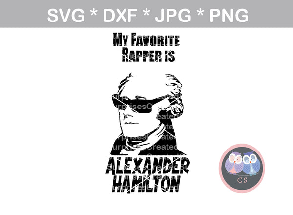 Favorite Rapper, Fun, Bottle, mug, label, funny, digital download, SVG, DXF, cut file, personal, commercial, use with Silhouette Cameo, Cricut and Die Cutting Machines