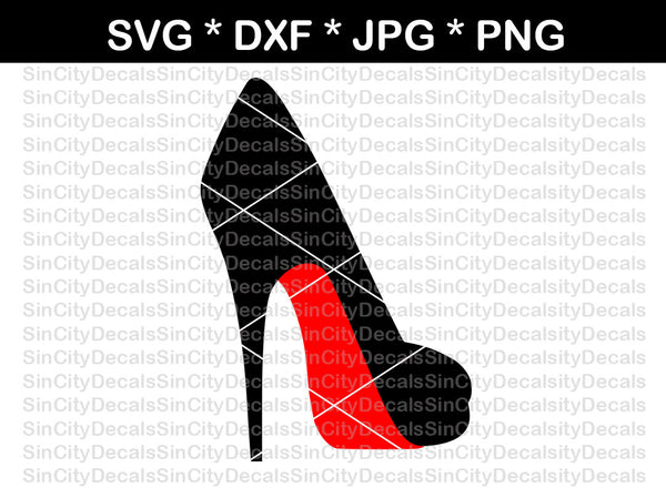 High heel, stiletto, pump, heel, digital download, SVG, DXF, cut file, personal, commercial, use with Silhouette Cameo, Cricut and Die Cutting Machines