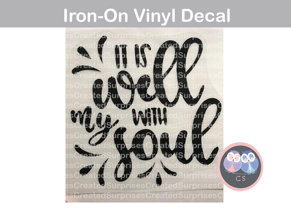 It is well with my soul, faith, saying, High quality HTV, Vinyl Iron-on Decal