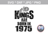Kings are born in (All numbers Included), Aquarius zodiac, digital download, SVG, DXF, cut file, personal, commercial, use with Silhouette Cameo, Cricut and Die Cutting Machines
