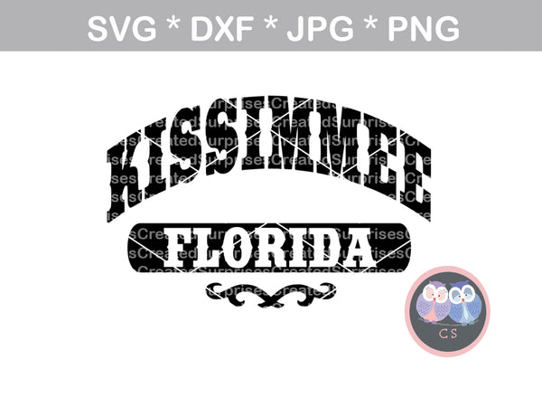 Kissimmee Florida, travel, digital download, SVG, DXF, cut file, personal, commercial, use with Silhouette Cameo, Cricut and Die Cutting Machines
