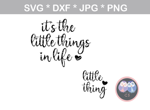 Little Things in Life, little thing, mommy and me, family, digital download, SVG, DXF, cut file, personal, commercial, use with Silhouette Cameo, Cricut and Die Cutting Machines